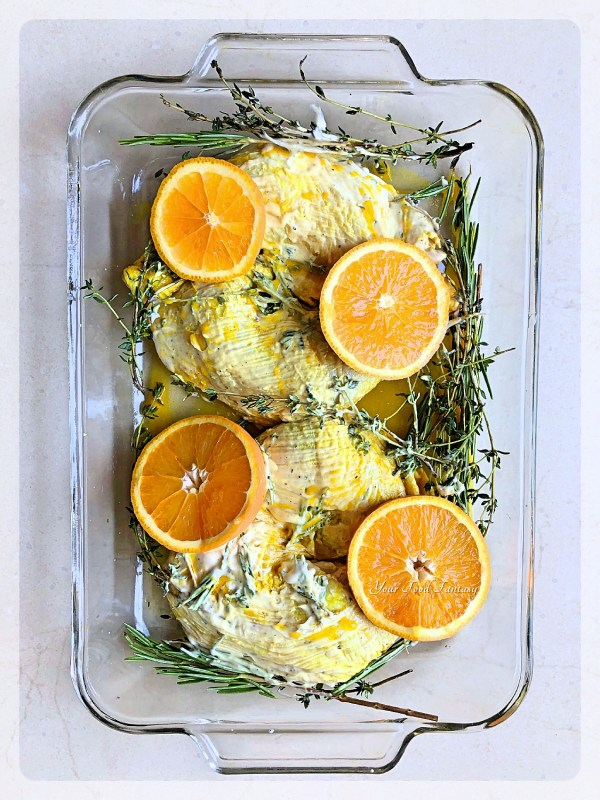 Topping up the oven tray with Orange slices   Your Food Fantasy
