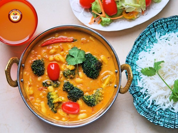 Cannellini Broccoli Vegan Curry Recipe | YourFoodFantasy.com