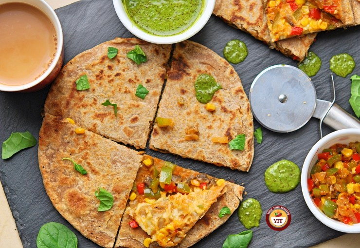 Kid Friendly Pizza Paratha Recipe | Your Food Fantasy