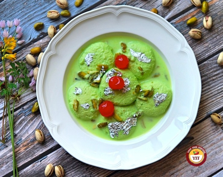 Pista Rasmalai - Ras Malai Recipe | Your Food Fantasy