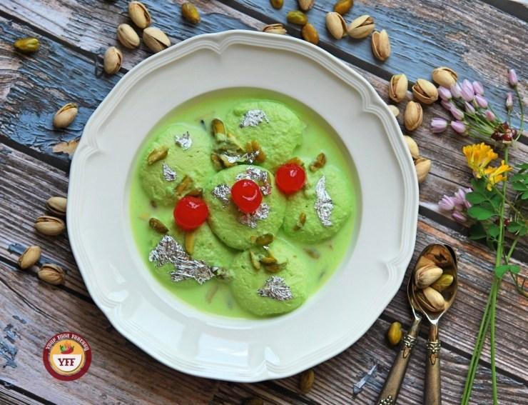 Pistachio Ras Malai Recipe | Your Food Fantasy