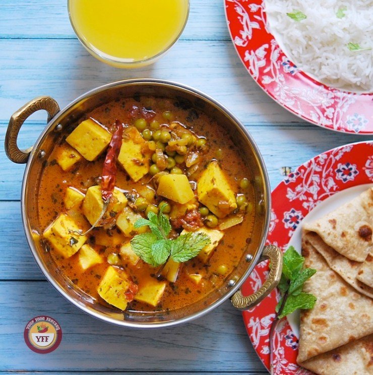 Aloo Matar Paneer Sabzi | Your Food Fantasy
