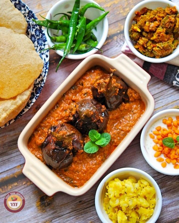 Stuffed Eggplant - Bharwa Baingan Curry Recipe