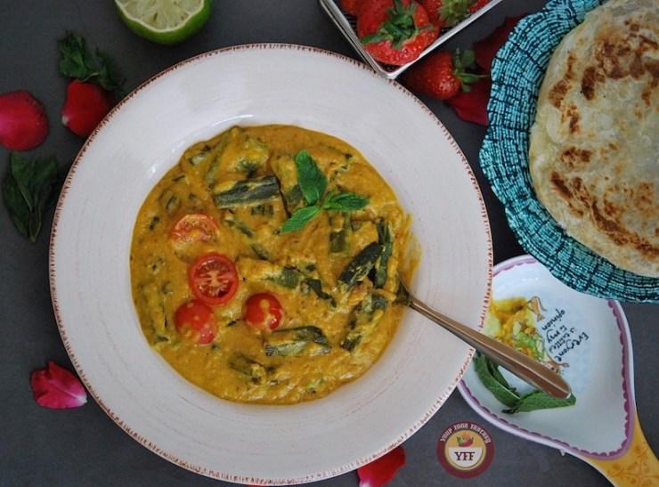 Okra Yogurt Curry - Dhai wali bhindi