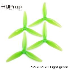 HQ Durable Prop 5.5X3.5X3 (2CW+2CCW) - POPO (Light Green)
