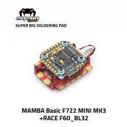 MAMBA RACE F722 Mini MK3 60A 3-6S 32bit Flight Controller Stack