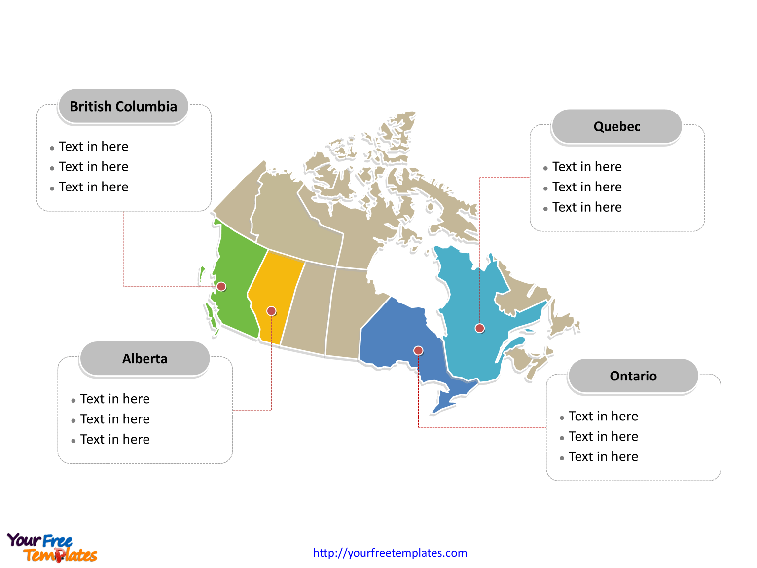 Canada Map Blank Templates Free Powerpoint Templates
