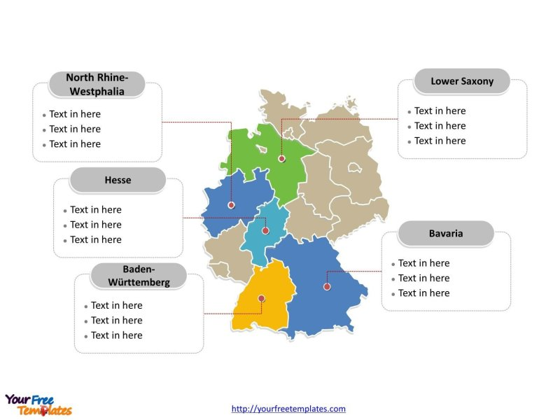 Free Germany PowerPoint Map   Free PowerPoint Templates Germany PowerPoint map label with major administration districts