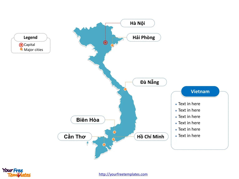 Free Vietnam Editable Map