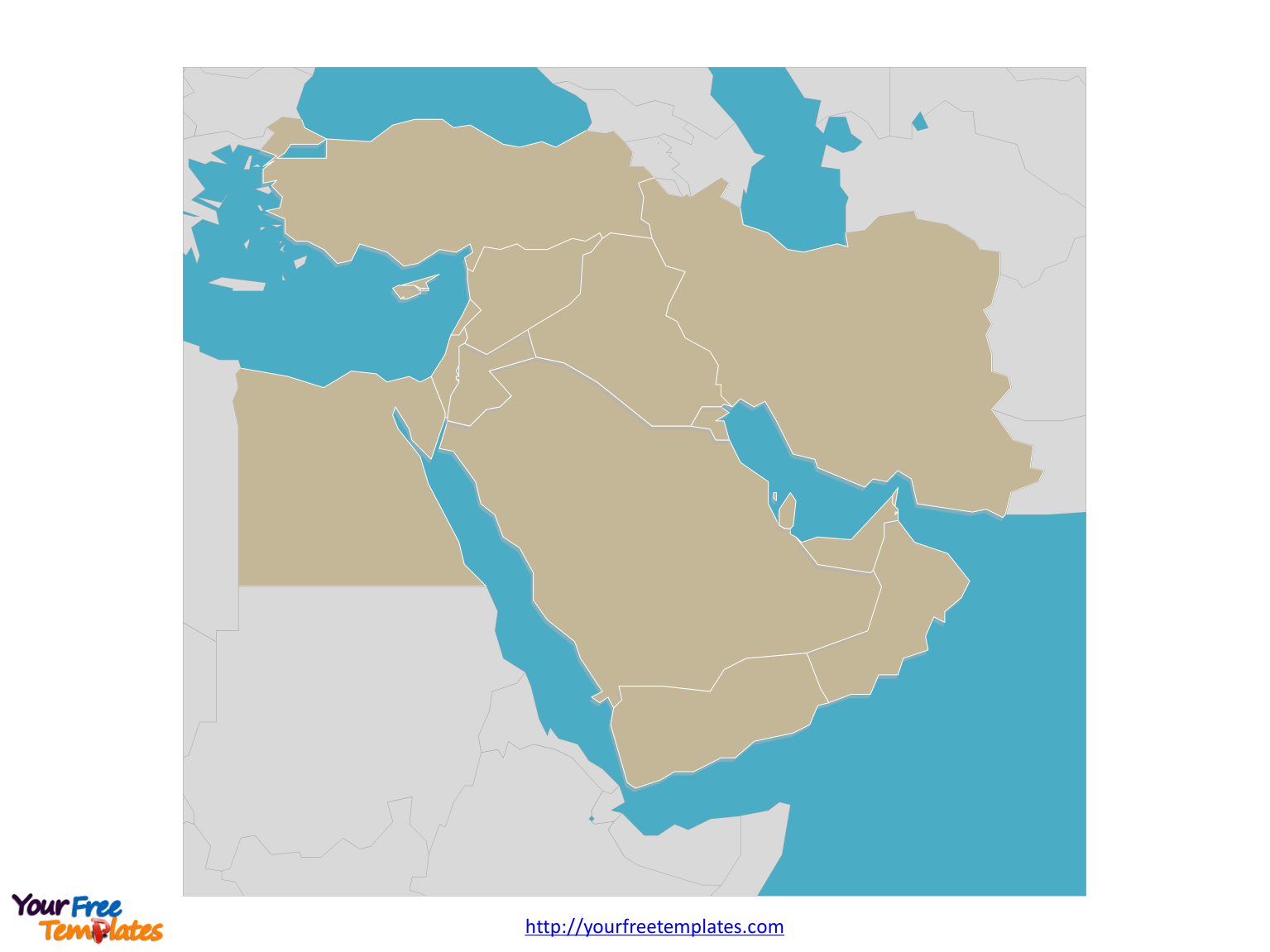 Free Middle East Editable Map
