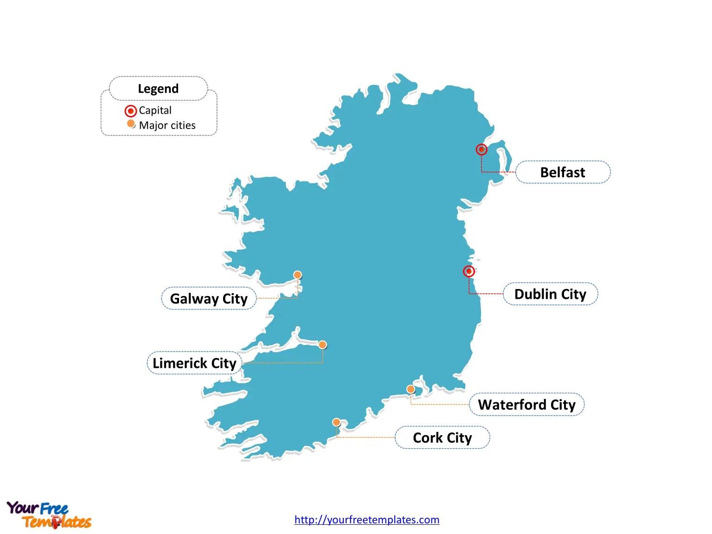 Map Of Ireland Major Cities