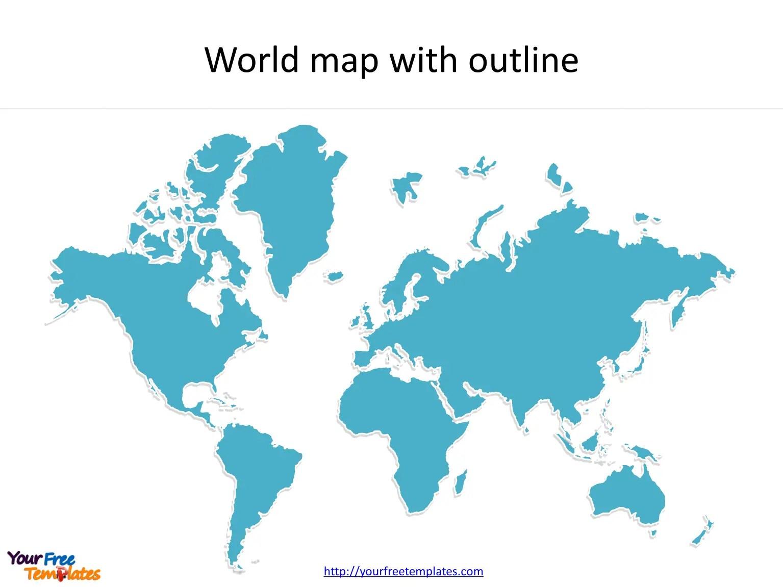 World Maps Blank Template