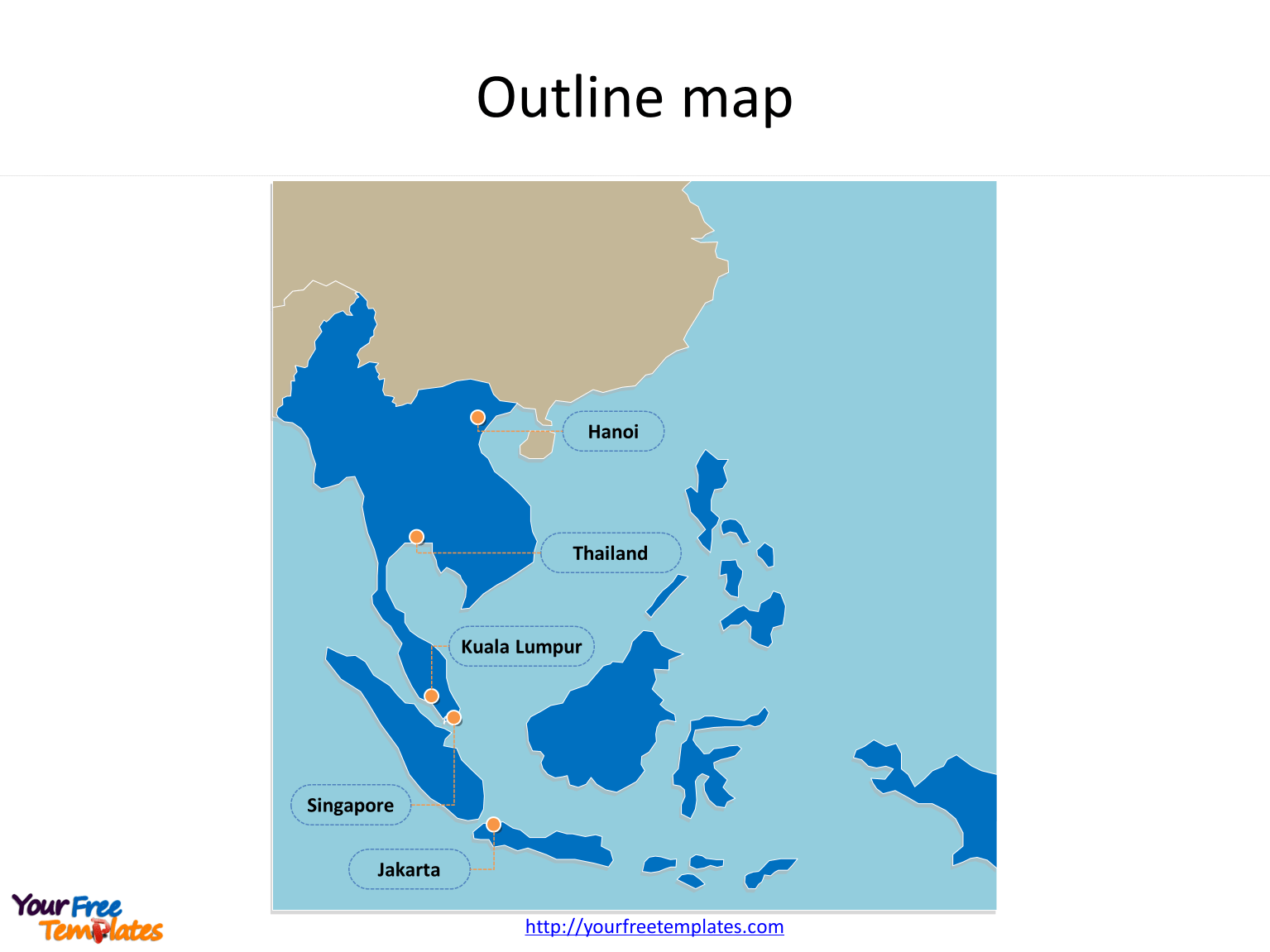 Outline Map Of Southeast Asia