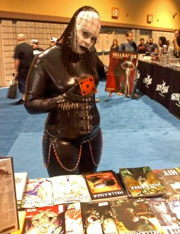 "She looked awesome! Had to get a shot with her in front of our ""Hellraiser"" line-up"