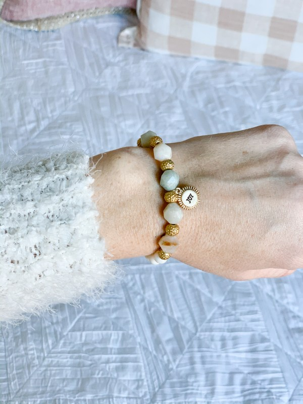 stackable beaded stretch bracelet