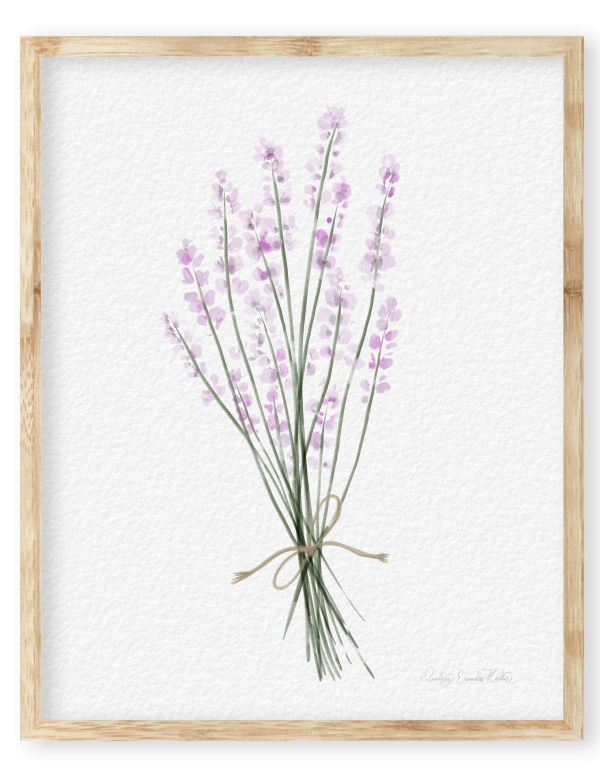 Watercolor Lavender Bunch