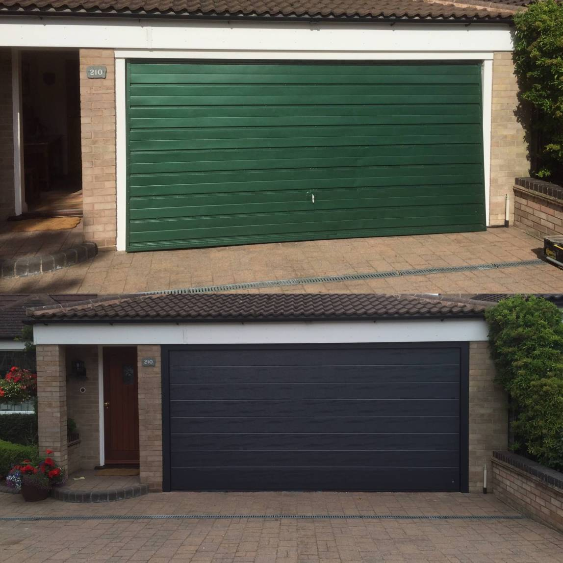 Old and New Sectional Garage Door