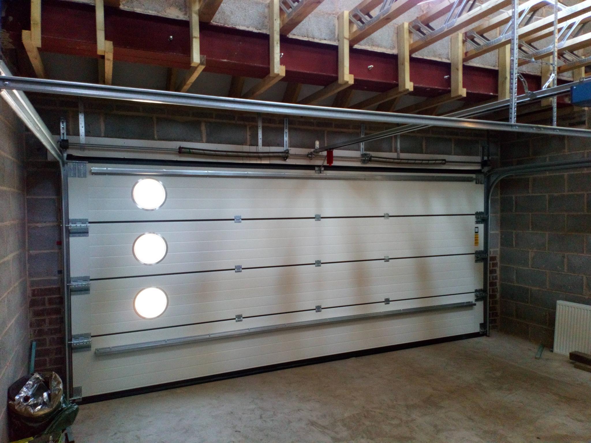 Sectional Garage Door as seen from inside