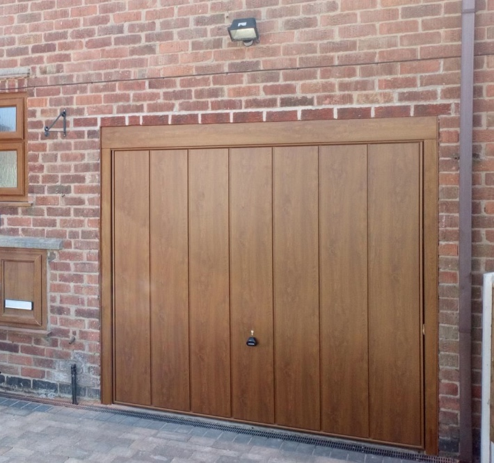 Brown vertical panel