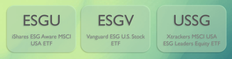 How to select more sustainable stocks to replace the largest ESG ETF holdings (ESGU, ESGV, USSG)