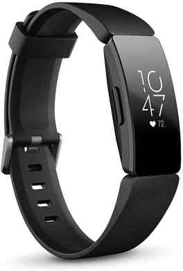 Side view of the Fitbit Inspire HR activity tracker