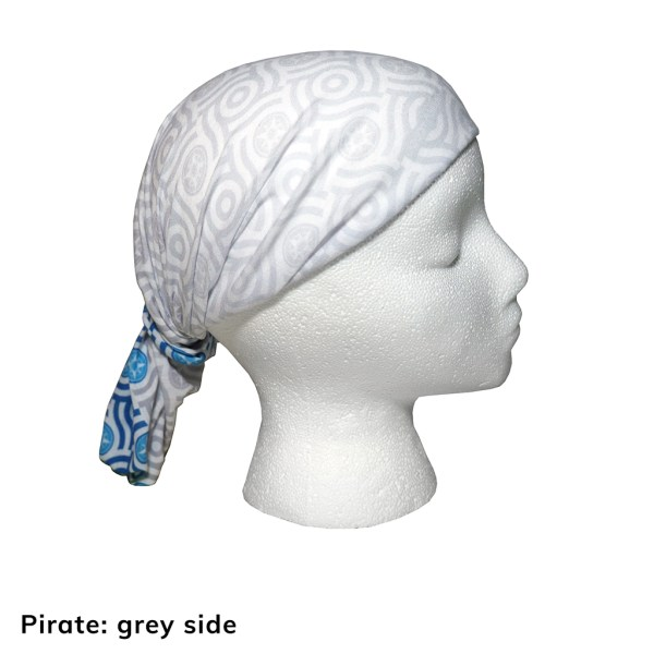 Happier Bandana - blue and grey - Pirate - Happier Place