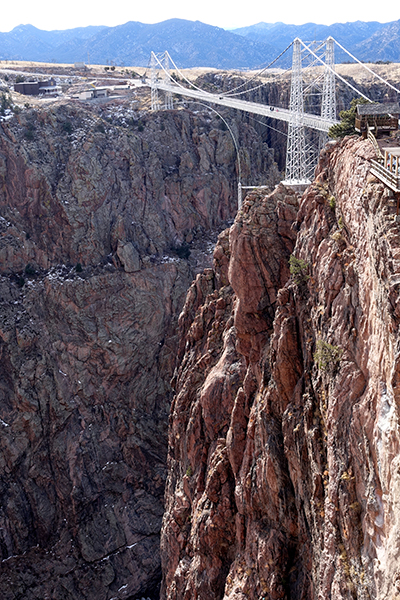Until 2003, the Royal Gorge Bridge was the highest suspension bridge in the world; it's still the highest in Colorado. Happier Place