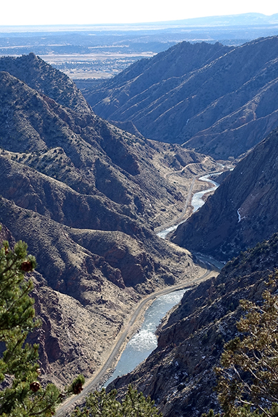 Arkansas River at the bottom of the Royal Gorge - Happier Place