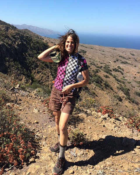Lisa Goldfarb in Channel Islands National Park, California. Happier Place