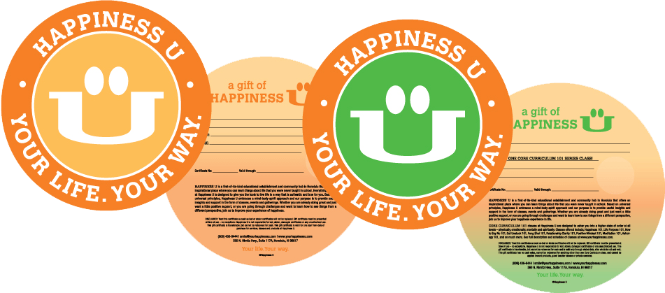 Happiness U Gift Certificate