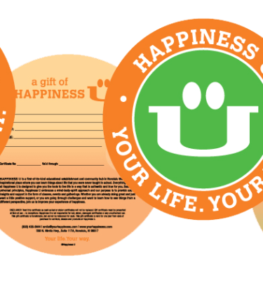 Happiness U Gift Certificate