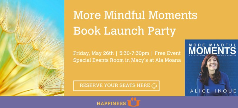 Alice Inoue More Mindful Moments Book launch event slider flyer