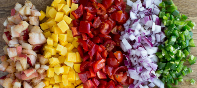 cut fruit and veggies