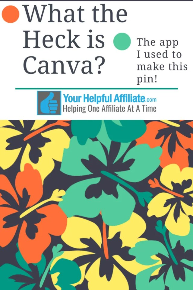 What the Heck is Canva? The app I used to make this pin!