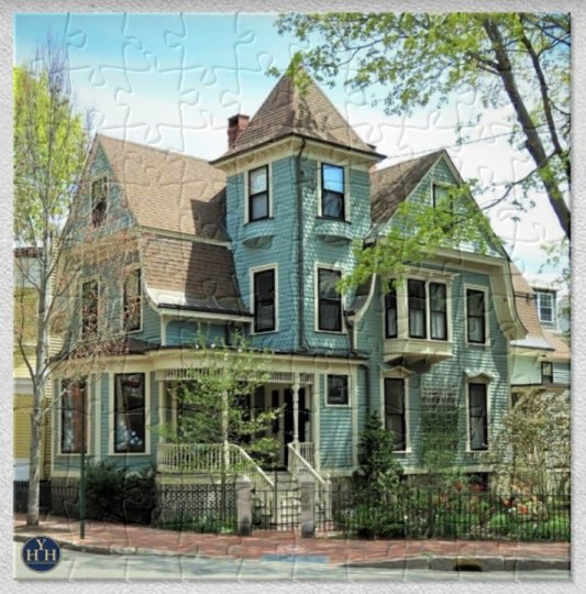 Towered Queen Anne Puzzle Historic House