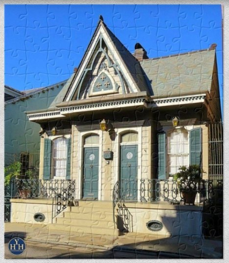 New Orleans French Quarter Gothic Revival Gem Puzzle Historic House