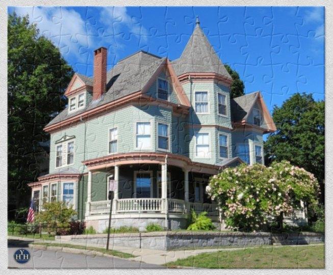 Symmetrical Queen Anne Puzzle Historic House