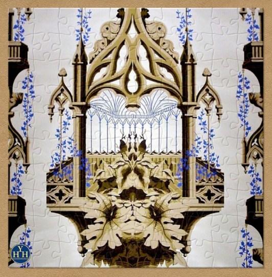Victorian Gothic Revival Wallpaper Historic Wallpaper Puzzle