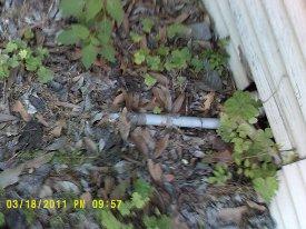 Pipeline dans le sol