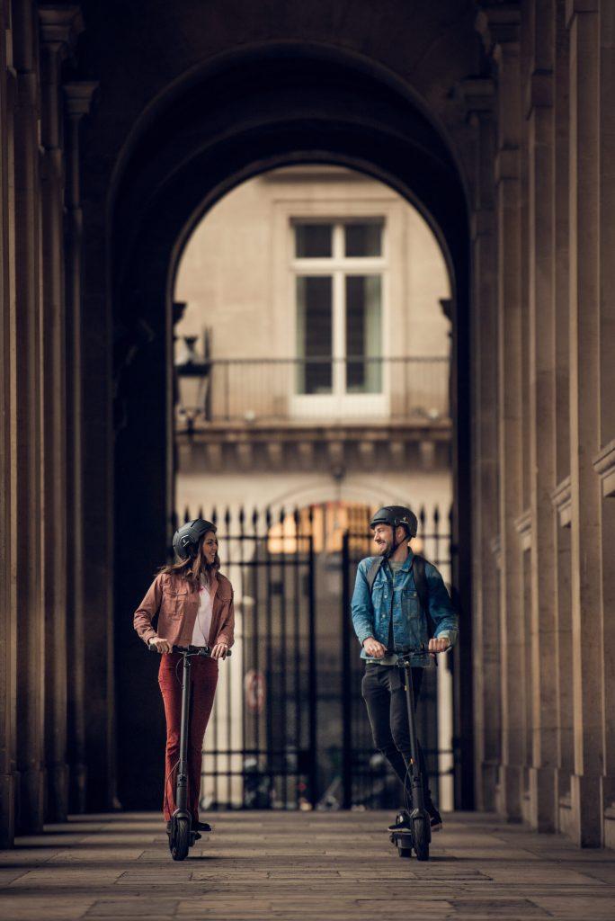 Par på KickScooter G30D i Paris