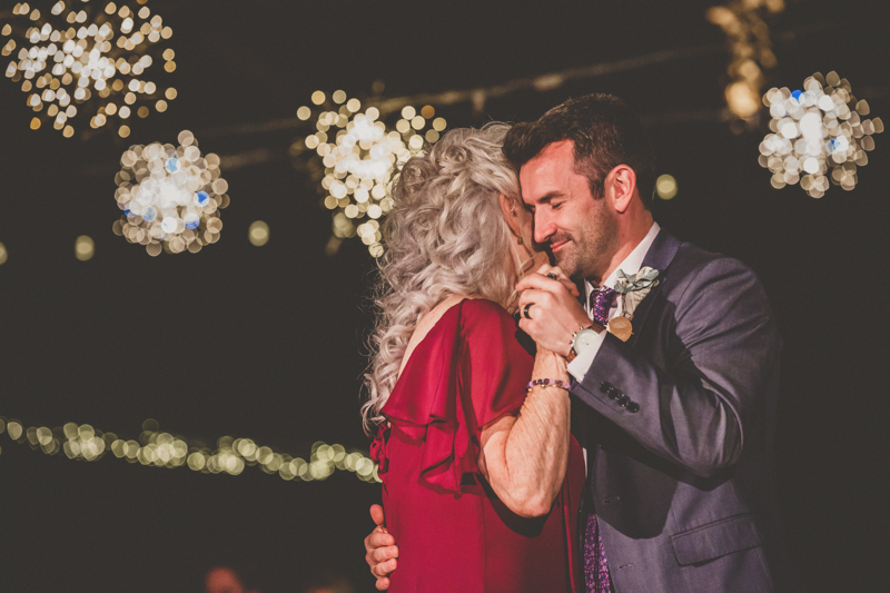 living desert wedding mother son dance