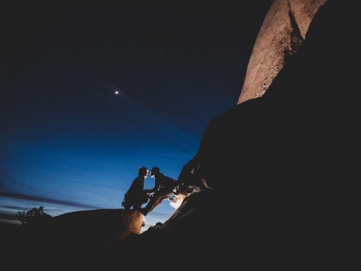 Rock Climbing Engagement in Joshua Tree – Adventure Session