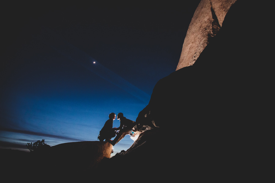 Rock Climbing Engagement in Joshua Tree