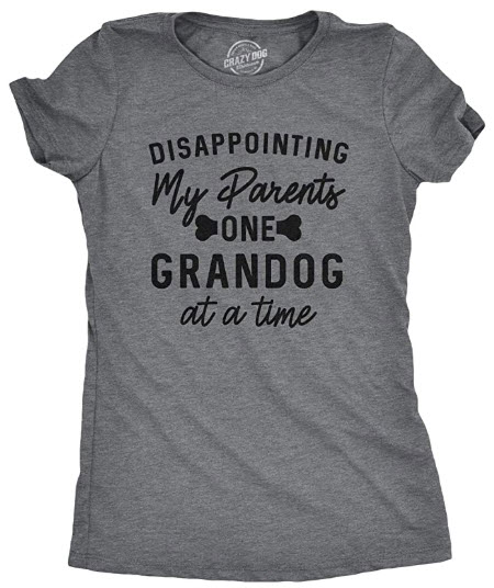 Womens Disappointing My Parents One Grandog at A Time Tshirt Funny Pet Puppy Tee