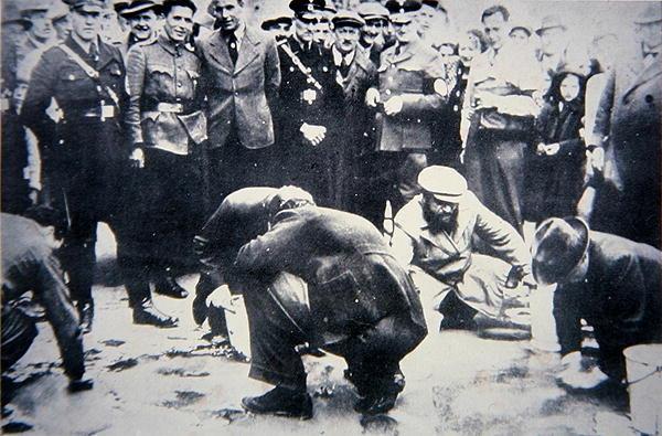 Jews Scrubbing Streets Vienna