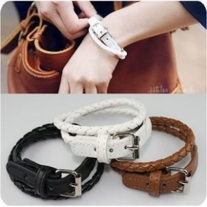 bracelet-ladies-belt-tan-black-white