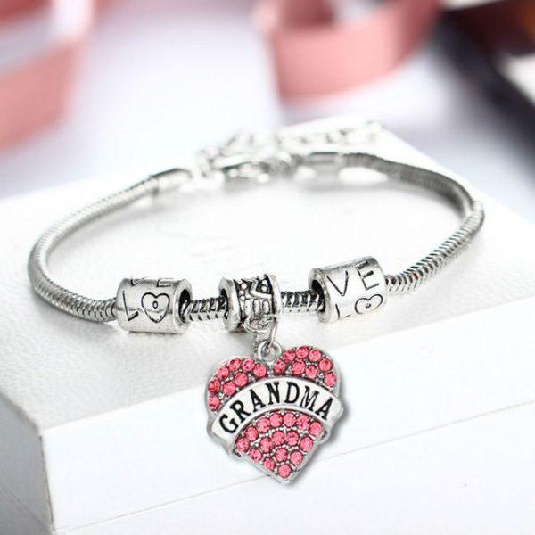 bracelet-ladies-nana-pink-crystals-charm-heart