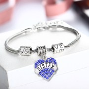 bracelet-ladies-sister-blue-crystals-charm-heart