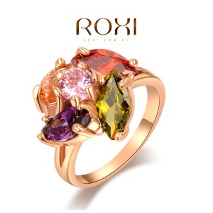 ring-ladies-18k-rose-gold-plated-colourful-water-drop-AAA-zircon