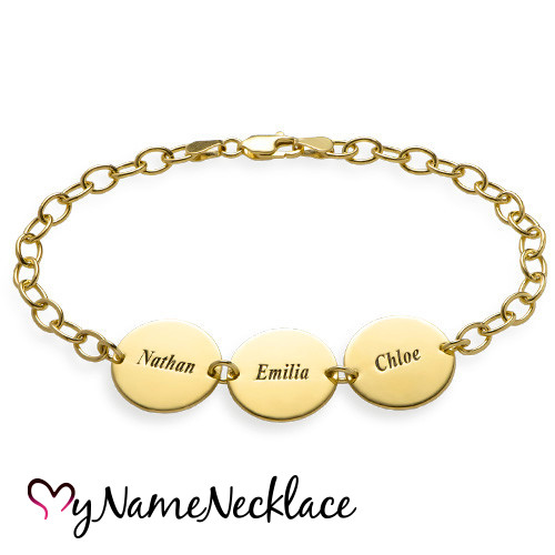 bracelet-mother-18ky-gold-plated-engraved-three-disc